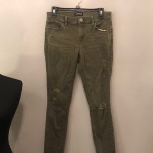 Express Woman's distressed ankle legging